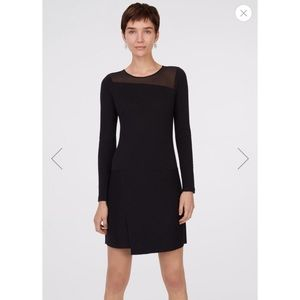 Club Monaco Mesh Block Sweater Dress